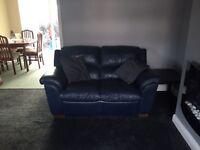 2 x leather 2 seater sofas