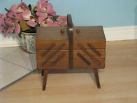 Antique accordian sewing basket $100.00 or best offer