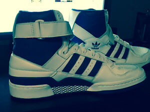 Adidas HI-TOPS- Blue On White- BRAND NEW