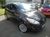 2010 Ford Ka 1.2 Zetec - Black - Long MOT 2017 + Platinum Warranty!