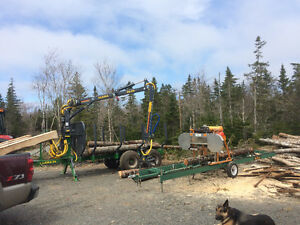 Portable Sawmill service / rough cut and custom cut lumber