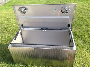 Faucher Bawer Brushed stainless steel truck bed tool box