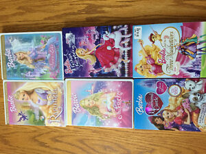 6 Barbie dvd's