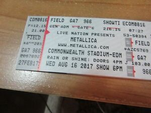 4 - Metallica GA Floor Tickets - Edmonton