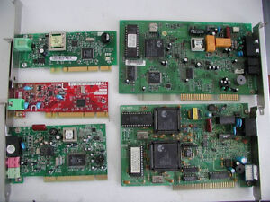 modem and fax modem cards (PCI and ISA)