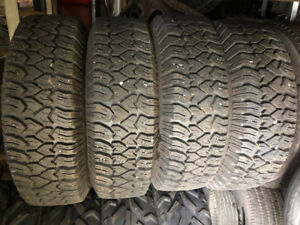 "16"" rims and LT 225/75R16 studded snow tires for GM truck"