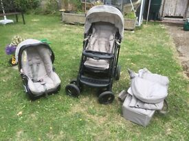GRACO BEAR AND FRIENDS COMPLETE BABY BUGGY PRAM TRAVEL SYSTEM