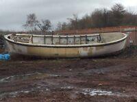 30 foot X 9 foot boat hull