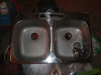 double  steel Queen  sink