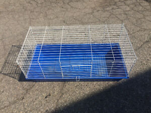 small guinea pig- blue and white cage  #33