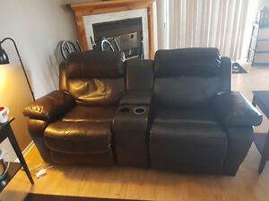 Two Seater, Sofa / Rocker / Recliner,  features cup holders