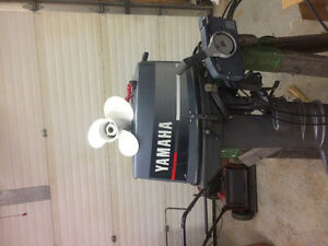 Yamaha 30 hp outboard with controls