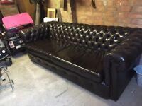 Beautiful 4 seater Chesterfield sofa