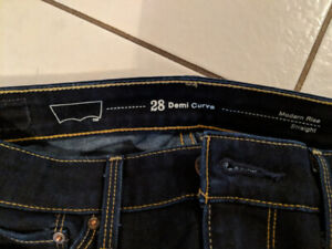 Levi's women's jeans modern rise straight size 28 - new