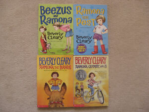 Beverly Cleary Ramona Chapter Books (4 Books)