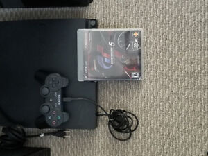 PS3 Playstation 3 with one game and one controller