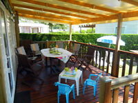 Mobile home for hire , west coast of France , 8 bed , camping 4* with pools , tennis and activities