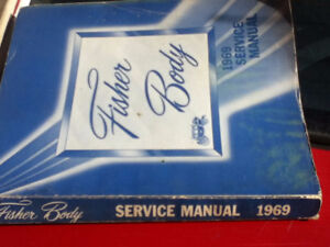 1969 Fisher Body Service Manual GM Chevrolet etc