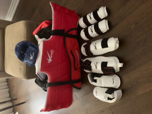 Child's Tae Kwon Do sparring equipment