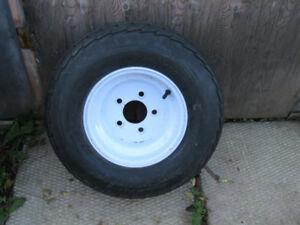 TWO  20.5x8.0 -10 TRAILER TIRES NOT A MATCHING PAIR