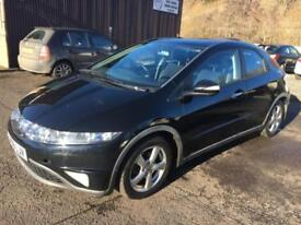 0606 Honda Civic 1.8i-VTEC ES Black 5 Door MOT 12m