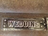 Wedding party arrow signs -New