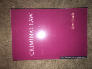 Criminal Law Textbook by Kent Roach