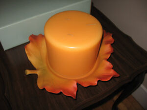 Partylite Candle and Candle Holder