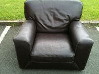 Used brown leather chair