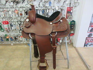 New 14in Western Rawhide Roping Saddle