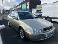 2000 VOLVO S40 2.0 T PETROL 160 BHP 4 DR SALOON ( CHEAP PART EX TO CLEAR )