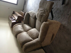 ComfyCloth Reclining Loveseat and Couch $30.00 Each, must pickup