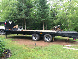 gator flat deck gooseneck trailer 2 x 10000 lbs axles