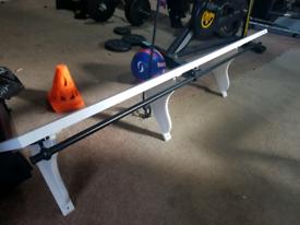 Ikea shelf with rail