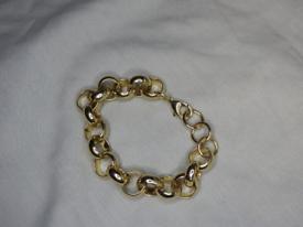 9ct Gold plated belcher bracelet