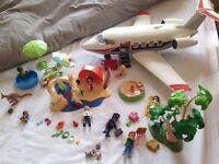 Playmobil holiday play set- plane, beach, pool, etc