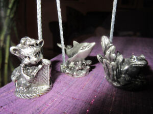 10 Animal  Pewter Name Holders - These are lovely
