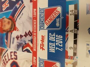 Kitchener Ranger Tickets Cambridge Kitchener Area image 1
