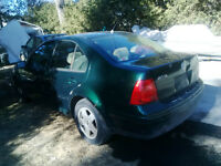 2000 Volkswagen Jetta TDI for PARTS, FREE GTA PART DELIVERY