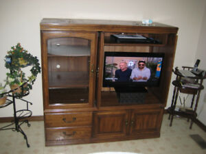 Like New TV Center with Doors, Drawers and Shelves