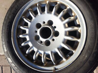 BMW E36 3 Series ONE Bottle Cap RIM with bad tire OEM