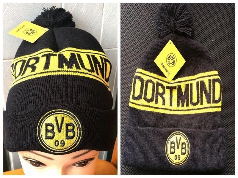 7967b3341ad Football Club Soccer Knitted Beanie Bobble Hat Winter Cap RM BVB PSG ...