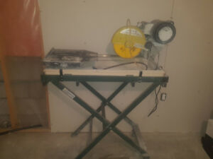 Ceramic tile saw and stand  $150 obo