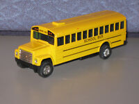 "5"" New Yellow School Bus Diecast metal model toy pull back n go"