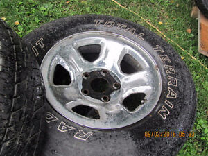 Two Dodge Rims with 265 R 17 Tires, $25 each Prince George British Columbia image 6