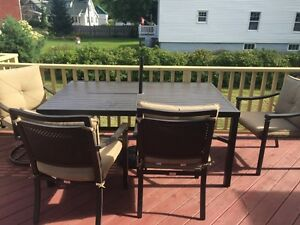 Patio dining set - great condition