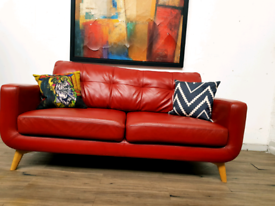 John lewis Barbican 2 seater sofa in saddle tan leather RRP £1599