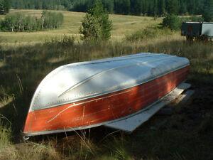 12' Springbok Aluminum Fishing Boat c/w 6 HP Johnson motor