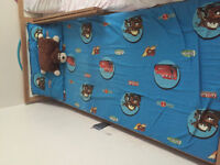 Kids bed with mattress and cover/pillow case