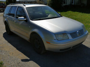FOR SALE: VW JETTA WAGON  $1500.00 obo